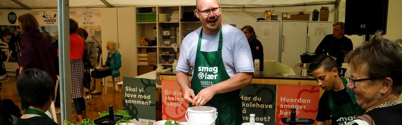 Smag for Livets Morten Christensen på Folkemødet 2016. Foto: Smag for Livet.