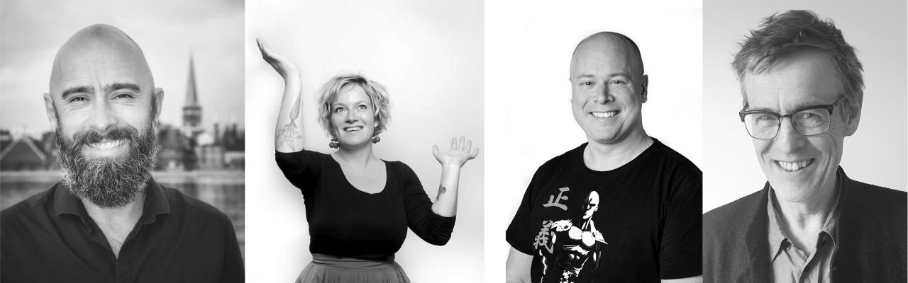 Smag for Livet udnævner fire nye smagsambassadører: Mikkel Wejdemann, Eline Lange Hansen, Kim Møller Madsen og Morten Aagaard.