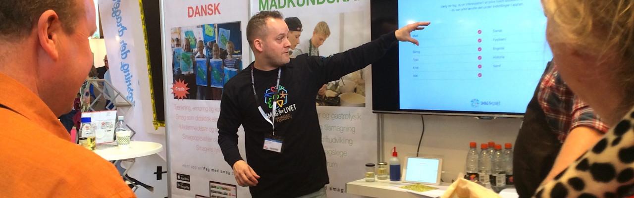 Webinar #4: Introduktion til Fag med Smag - et gratis læringsunivers til alle fag. Foto: Gitte Lotinga.