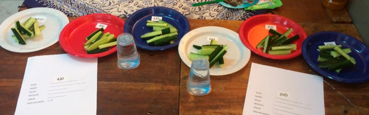 Hvilken forskel gør farven på tallerkenen? Foto: Stephanie Angka