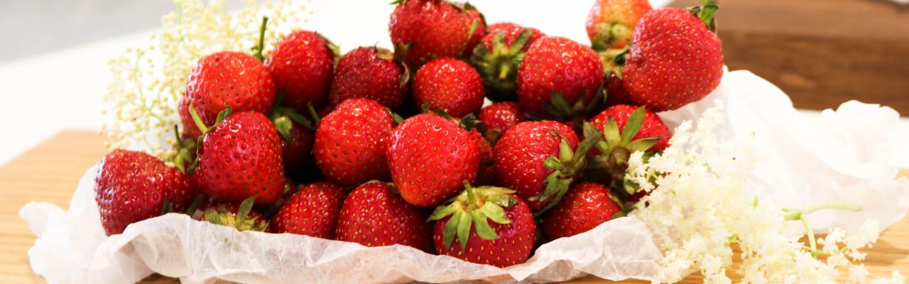 Jordbær. Foto: Julia Sick
