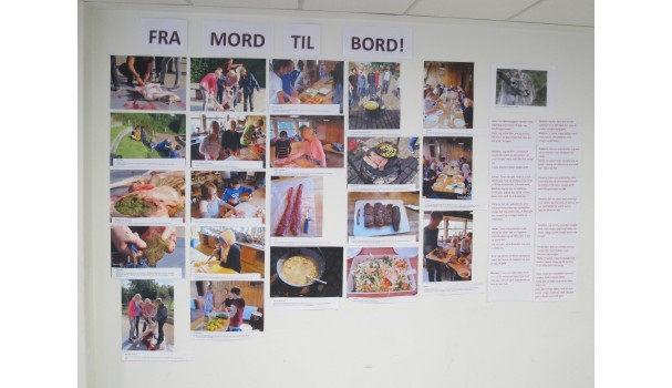 """Efter besøget lavede eleverne en udstilling med titlen """"Det' vildt - fra mord til bord"""". Foto: Anne Bech"""