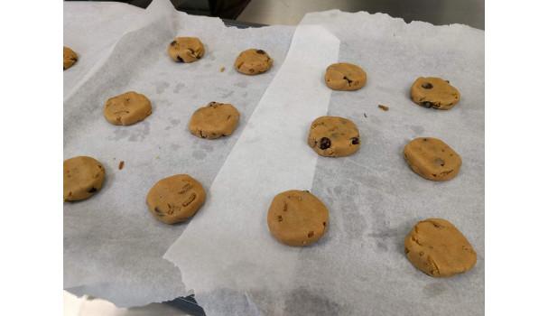 Cookies med chokolade og melorme