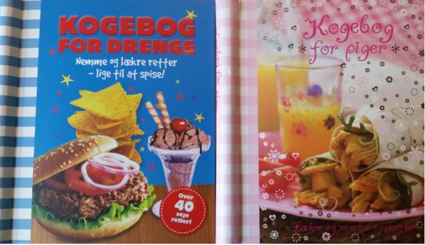 Kogebog til drenge og Kogebog til piger